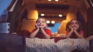 Drive in kids in car