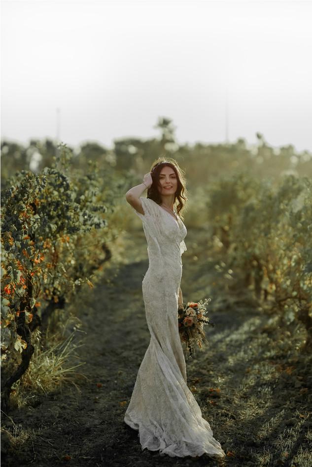 Bella sposa in natura
