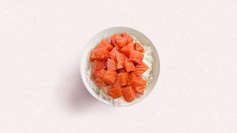 Bol de saumon et riz
