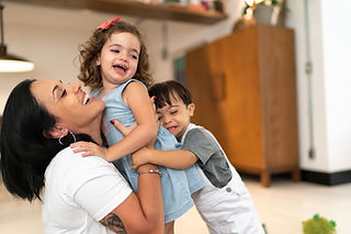 Mom hugging two small kids - LSR Family Law Group practice areas: Family Law Appeals - Northbrook, Chicago Suburbs