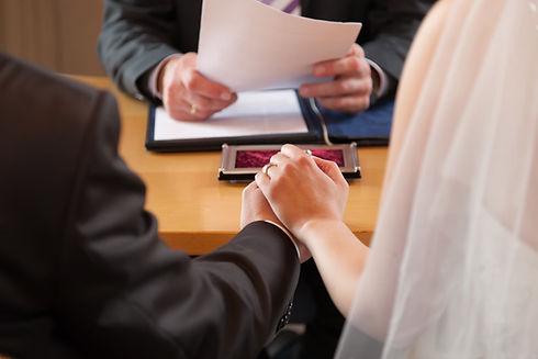 Eheschließung im Standesamt