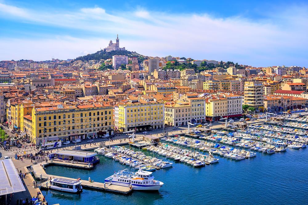 photo du centre-ville de Marseille prise du ciel