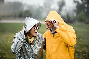 Couple in Raincoats