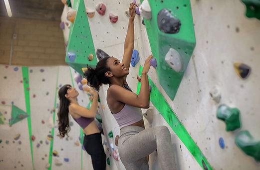 Women on the Climbing Wall