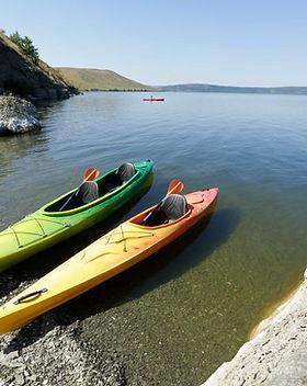Kayaks vacíos