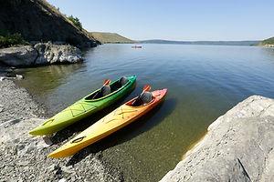 Empty Kayaks