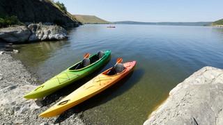 SL29 Kayaks on Shore