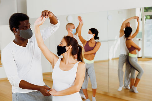 Ballroom Dance Class With Masks