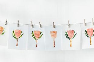 オレンジ色のペイントアート