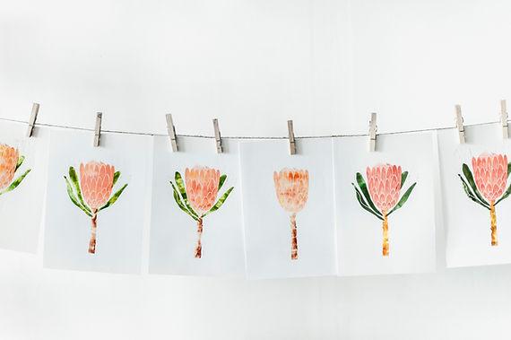 Oranje bloemafdrukken