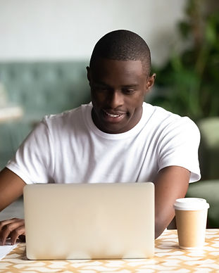 A Young Man Writing