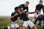 Glückliche Fußballspieler