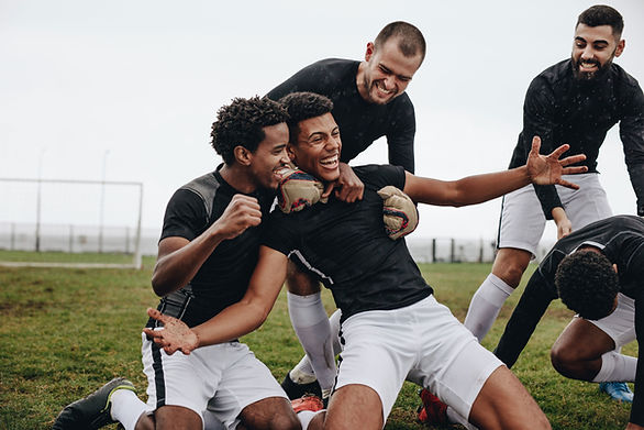 Happy Soccer Players