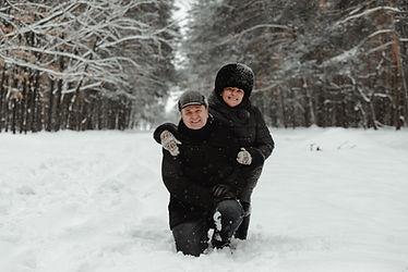 Senior Couple in Snow