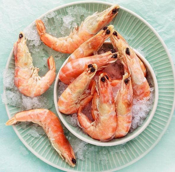Crevettes sur glace