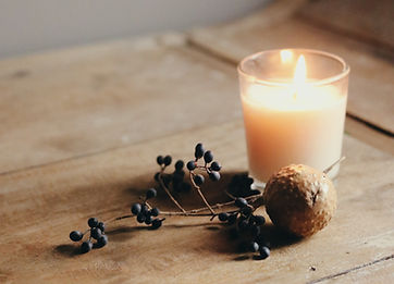 Candle and Berries