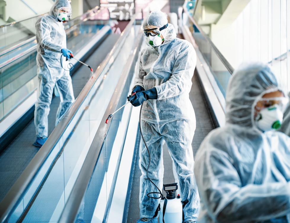 Escalator Handrail Sanitization