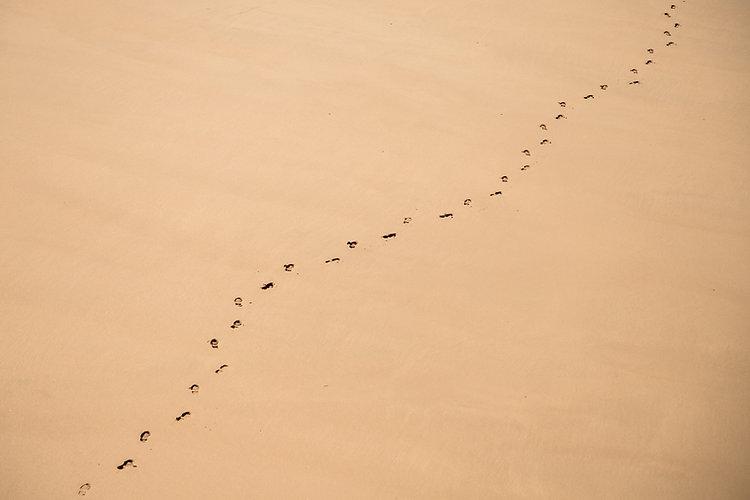 모래에 발자국