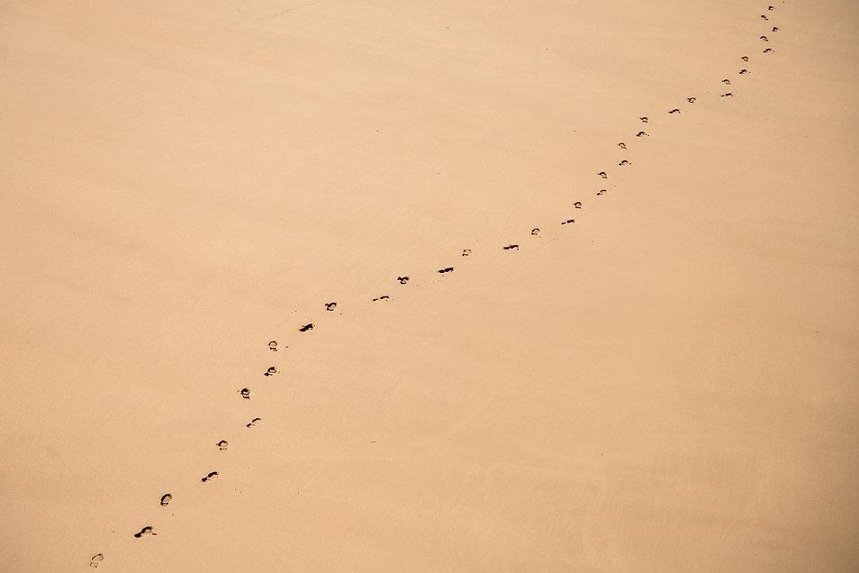 Foot Tracks on Sand