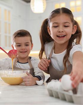 Kids Making Breakfast