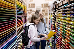 Students Buying Colorful Papers