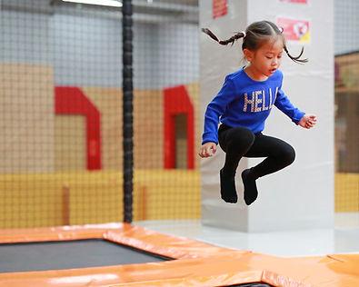Kid Jumping Trampoline