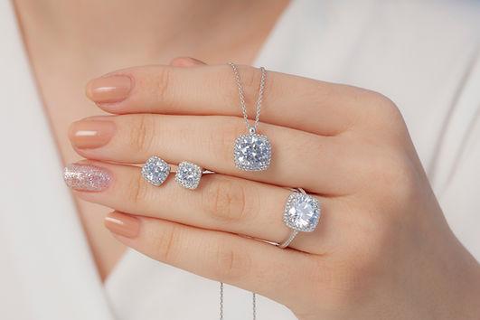 Conjunto de joias de diamantes