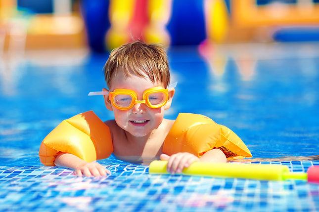 Cute Toddler in Pool
