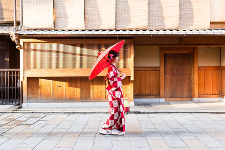 Traditional Red Kimono