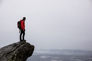 Hiker on Edge