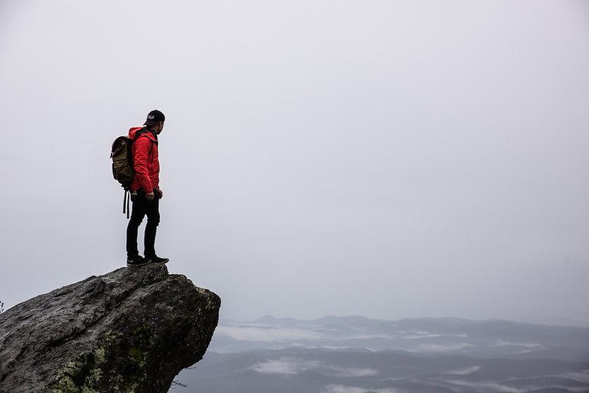 Hiker on Edge
