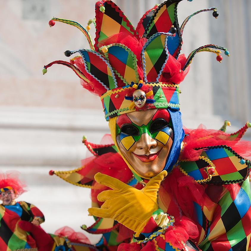 17/02 - Biscotti multicolor Maschere di carnevale