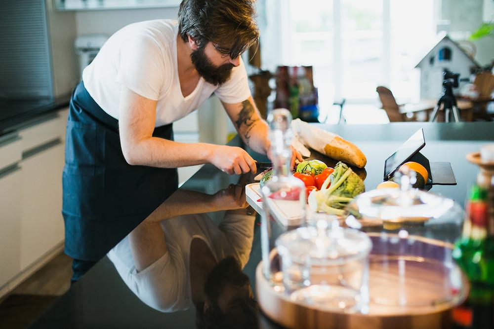 Preparing a healthy meal