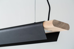 Wood and Metal Lamp
