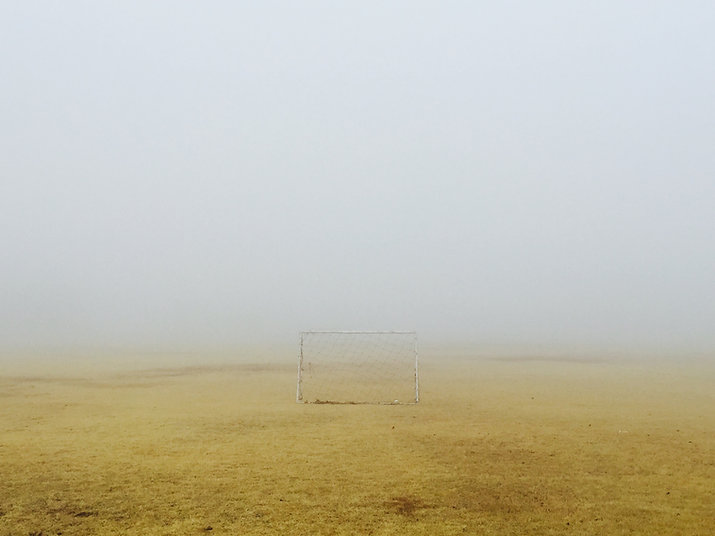 Dimmig fotballbane