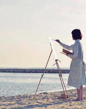Peinture de plage