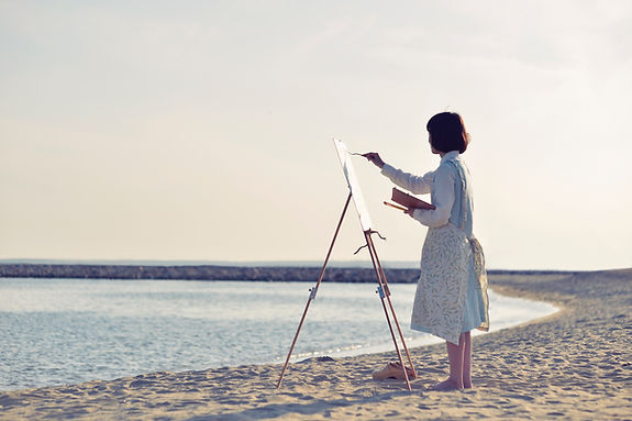 Pintura de la playa