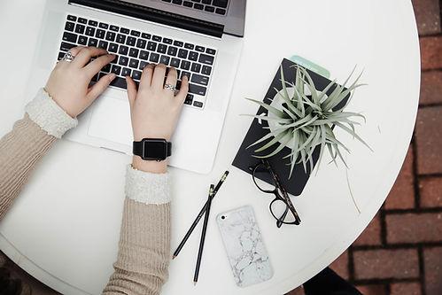 筆記本電腦和植物