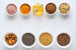 Poudres et grains
