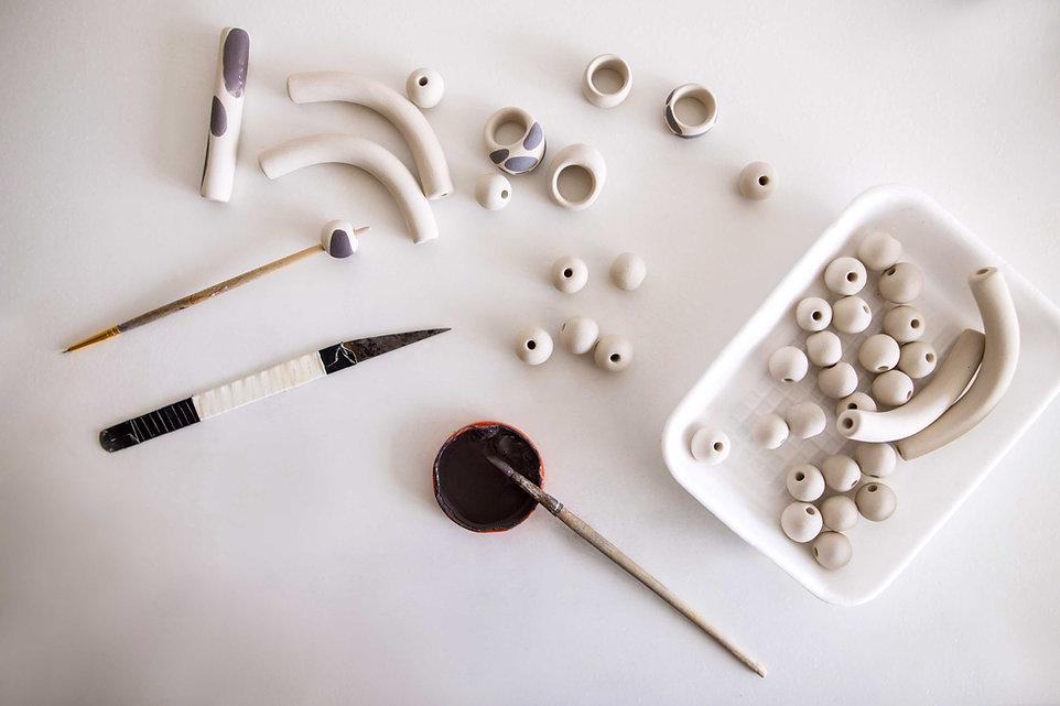 Perlas de cerámica