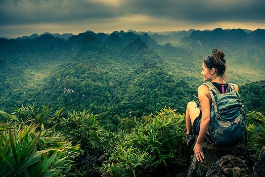 Vue sur la montagne de la jungle