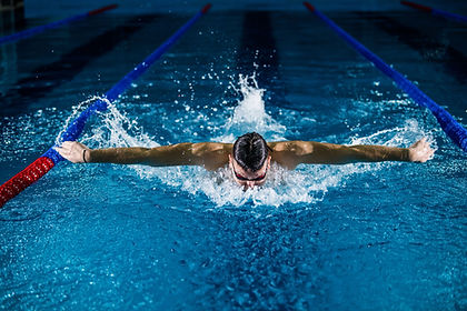 man-swimming-competitively