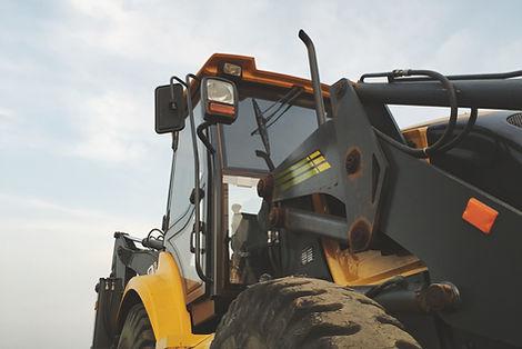 Bagger-Traktor