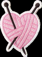 Woven Heart Patch