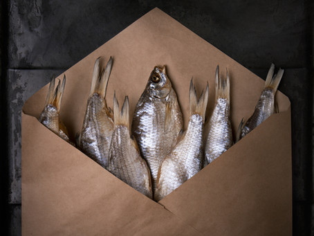 Saturday Writing Prompt -Fish Envelope - 17th October
