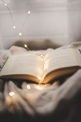 book, lights, words