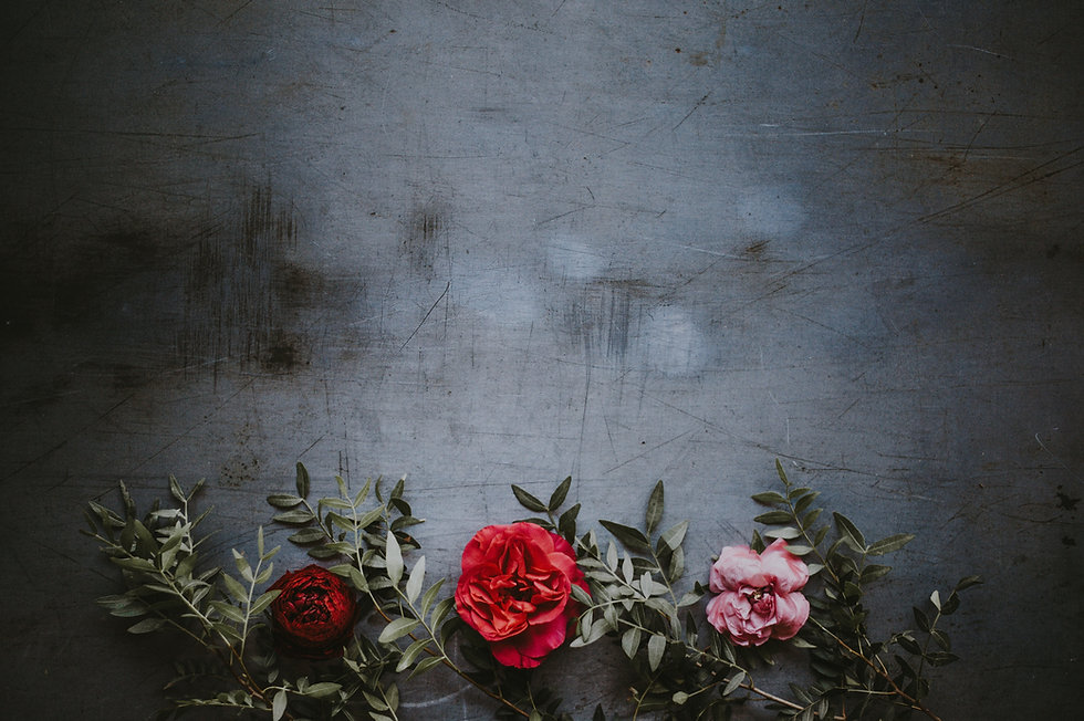 Flowers on Grungy Wall