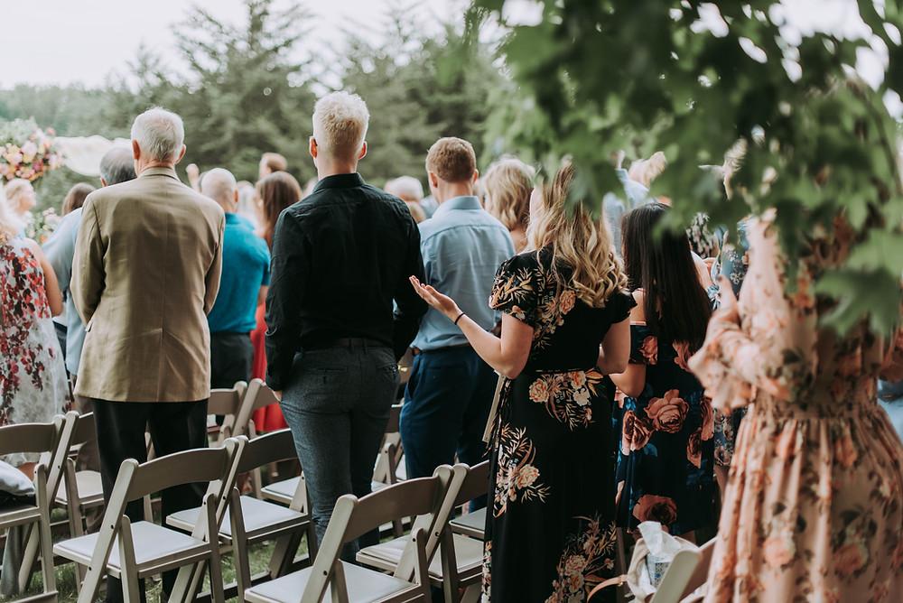 Group at a wedding