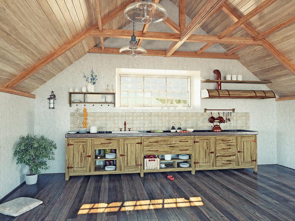 Boston kitchen painting.