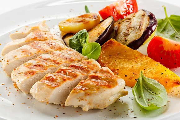 1/2 Tray Grilled Fusion Spice Mango & Pineapple Grilled Chicken Breast